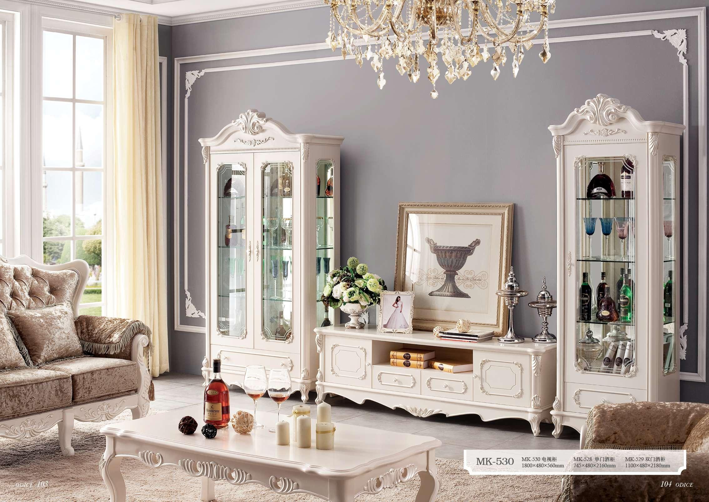 欧式小酒柜 实木隔断柜客厅角柜白色装饰柜